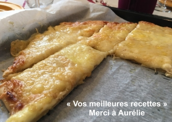 Pizza 4 fromages avec Moutarde à la Truffe